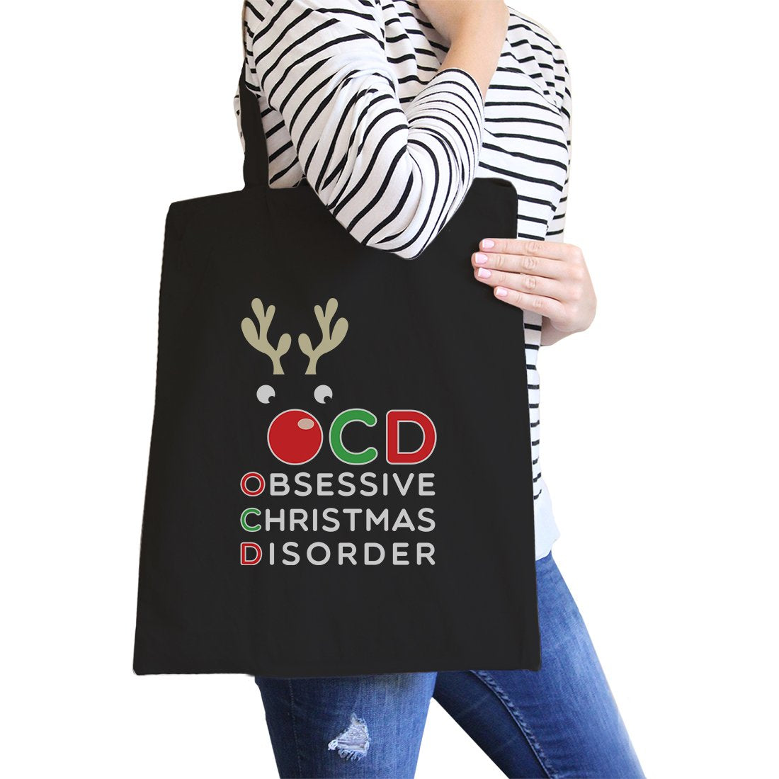 Rudolph OCD Canvas Shoulder Bag Foldable Heavy Cotton Tote Gifts