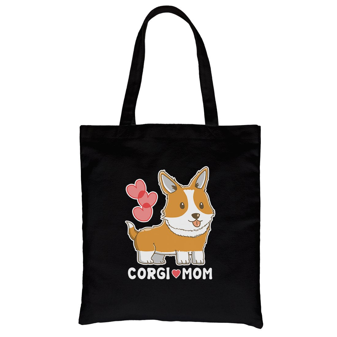 Corgi Mom Canvas Shoulder Bag Cute Gift For Corgi Owners Tote Bag