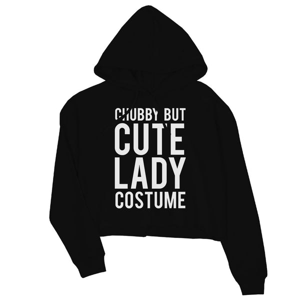 Chubby But Cute Lady Costume Womens Crop Hoodie