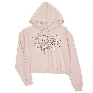 Christmas Mood Womens Crop Hoodie