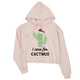 Care For Cactmus Womens Crop Hoodie