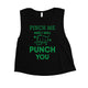Pinch Me Punch You Womens Cute Saint Patrick's Day Crop Tank Top
