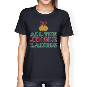 All The Jingle Ladies Womens Navy Shirt