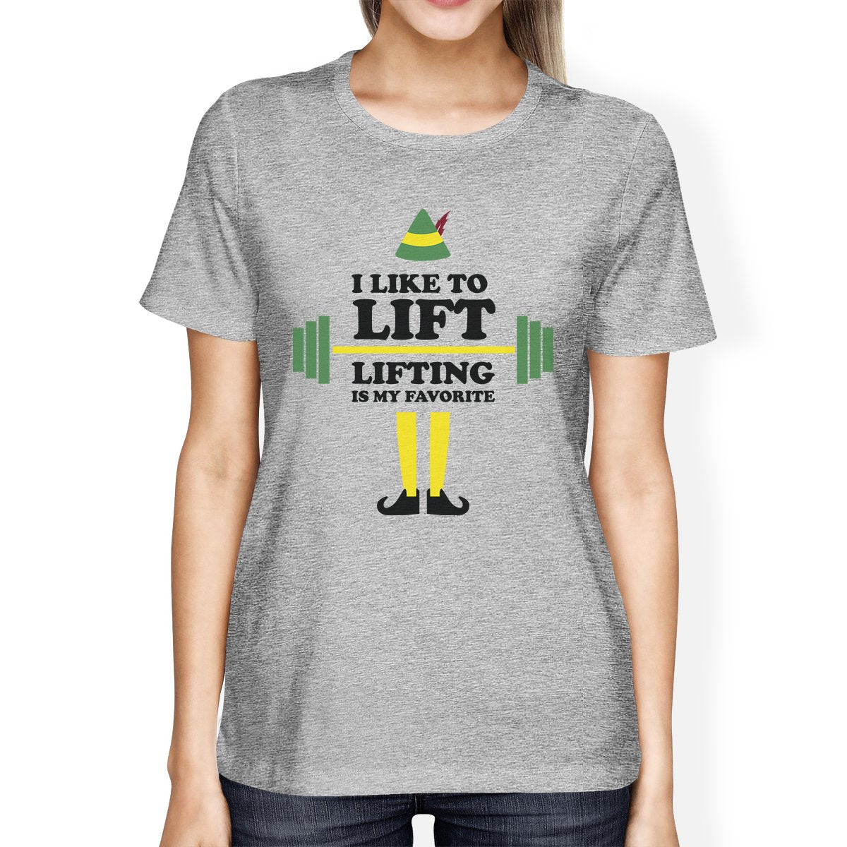 I Like To Lift Lifting Is My Favorite Womens Grey Shirt