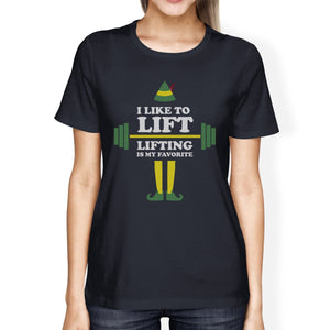 I Like To Lift Lifting Is My Favorite Womens Navy Shirt