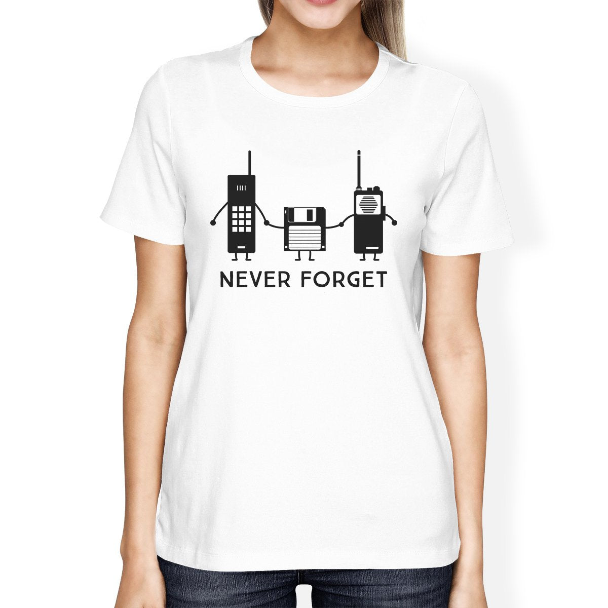 Never Forget Womens White Shirt