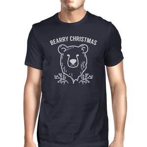Bearry Christmas Bear Mens Navy Shirt
