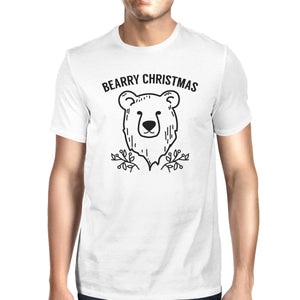 Bearry Christmas Bear Mens White Shirt
