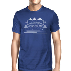 Winter Wonderland Mens Royal Blue Shirt