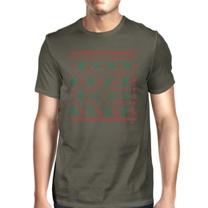 My Ugly Sweater Pattern Mens Dark Grey Shirt