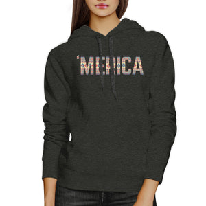 'Merica Cute Tribal Pattern Hoodie Round Neck Trendy Design Top