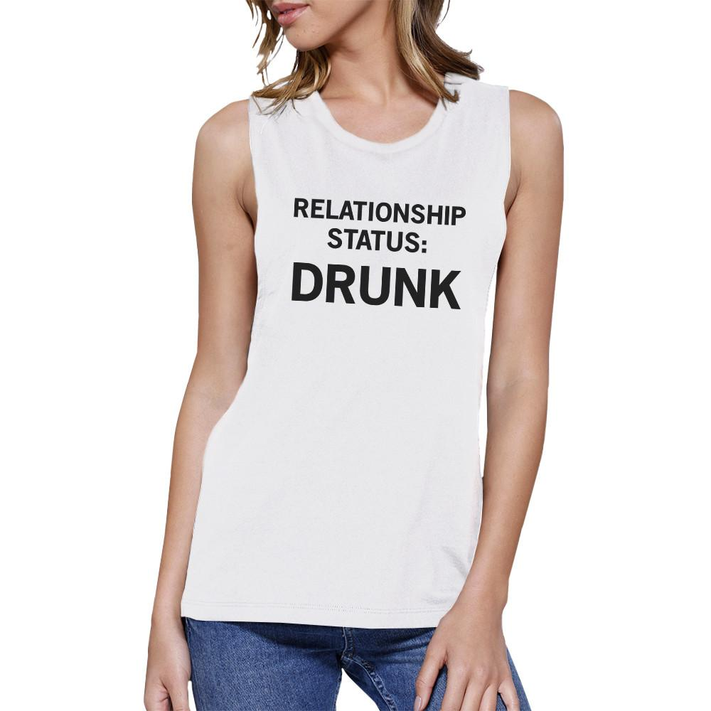Relationship Status White Muscle Tank For Women Funny Gift Ideas
