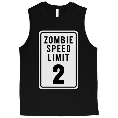 Zombie Speed Limit Mens Muscle Shirt