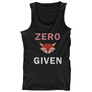 Zero Fox Given Tank Tops Black Sleeveless Shirts Funny Back To School Tanks