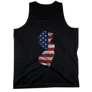 NJ State USA Flag Men's Tank Top New Jersey American Flag Tanks