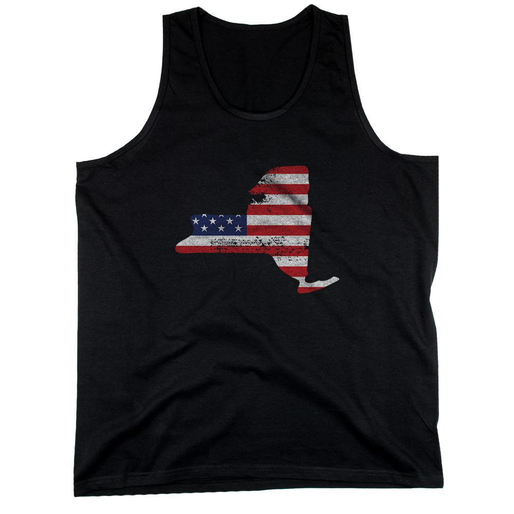 NY State USA Flag Men's Tank Top New York American Flag Tanks