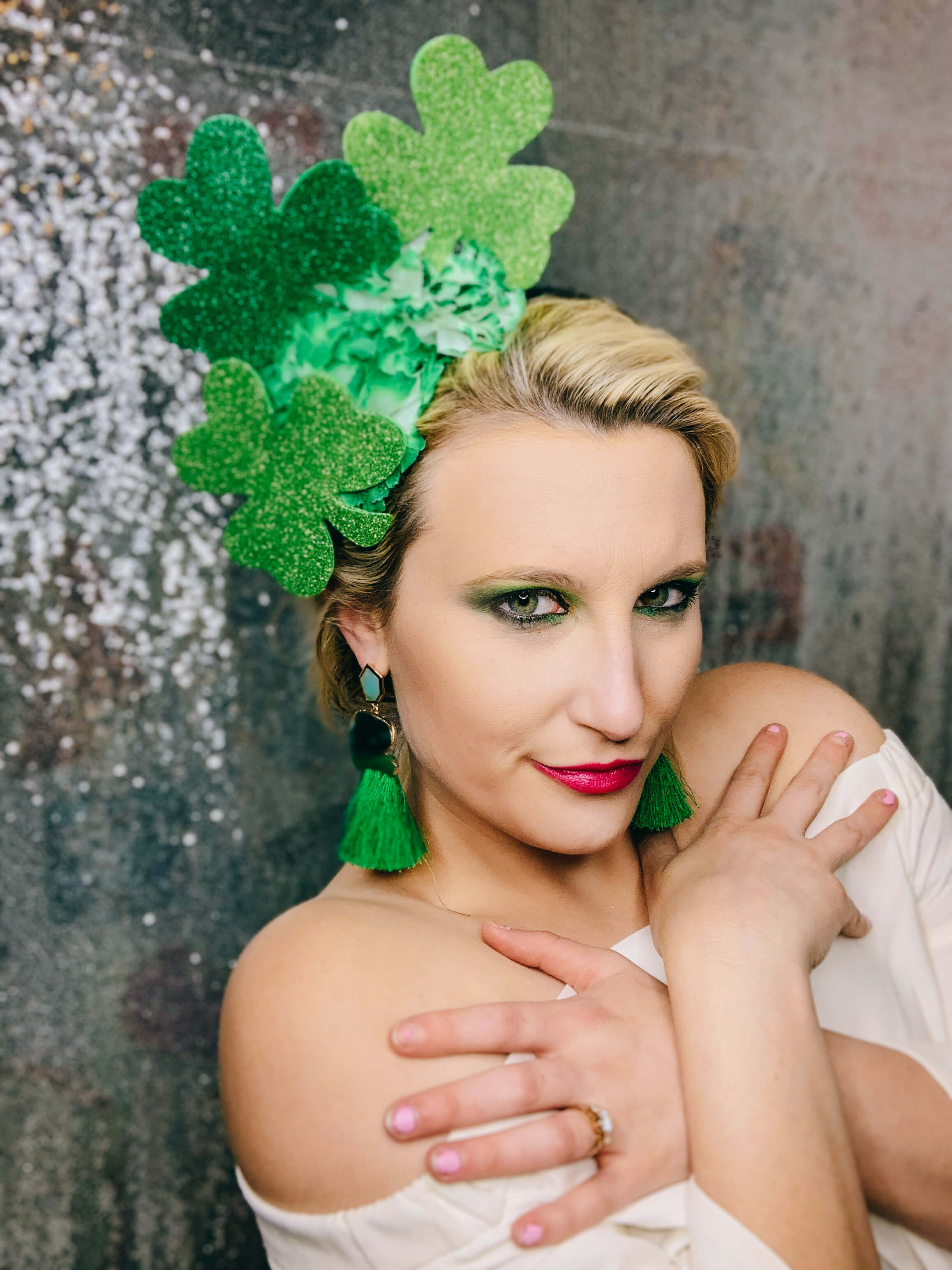 St. Patrick's Day Clover Fascinator