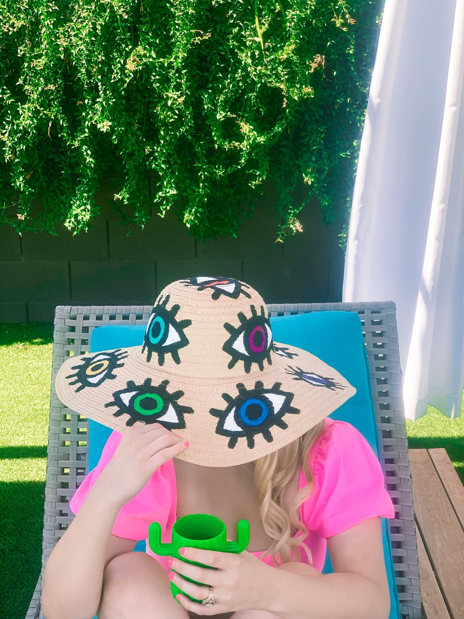 Evil Eye Floppy Hat