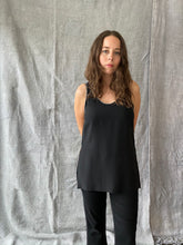 Load image into Gallery viewer, Rag & Bone Black Silk Camisole Top