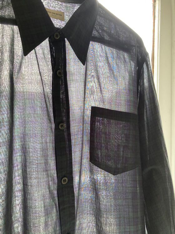 (M/L) Dries Van Noten Plaid Button Up