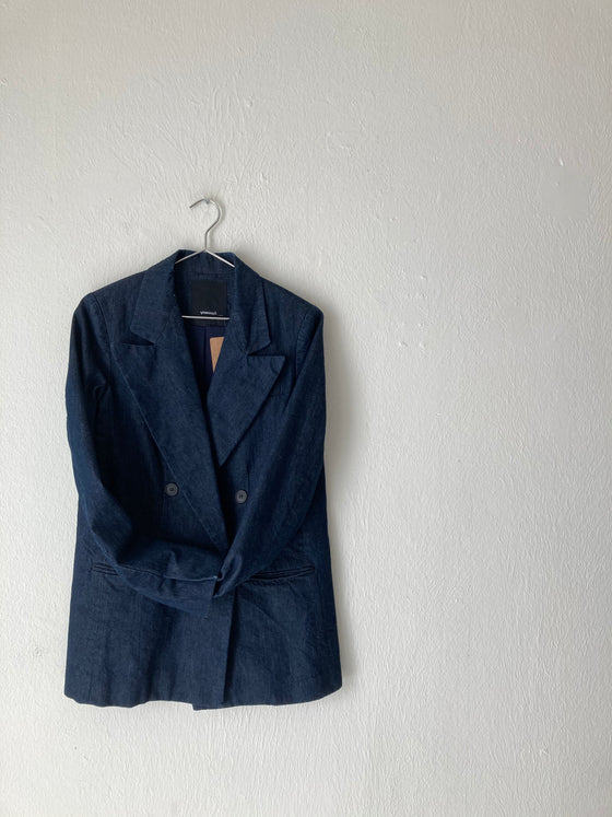 (S) Assembly NY Denim Blazer