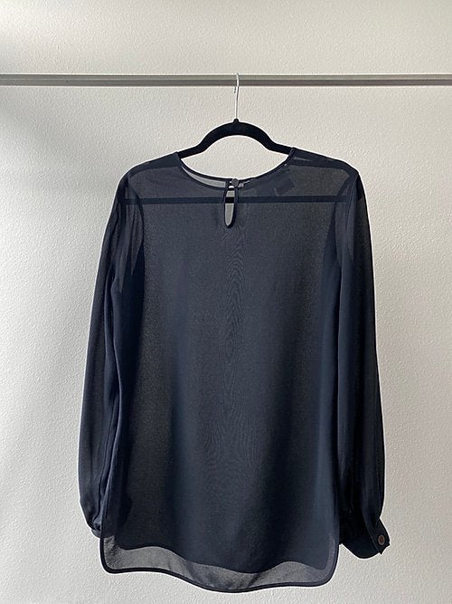 MaxMara Black Sheer Blouse