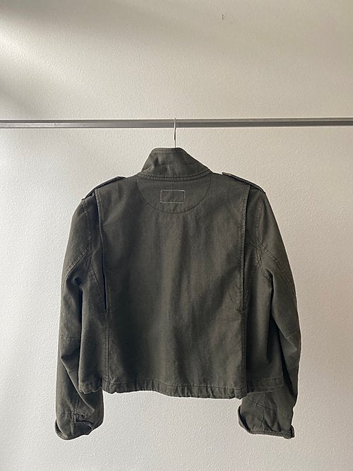 Rag & Bone Green Military Crop Jacket