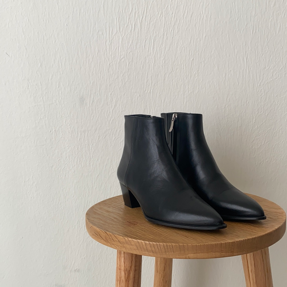 (7) Barbara Bui Black Ankle Boots