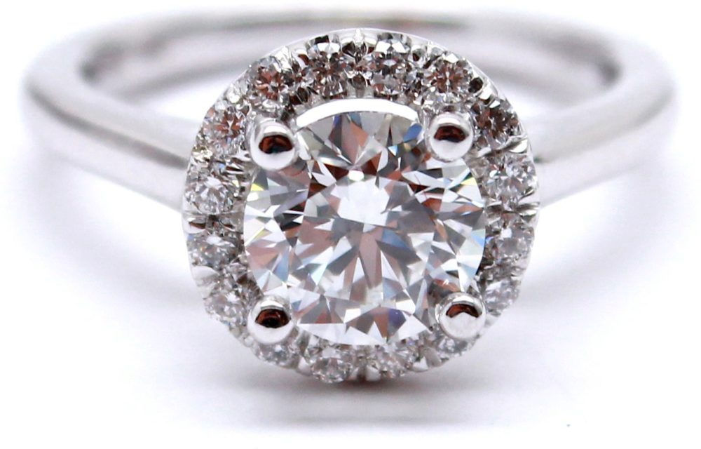 Perfect Halo  Diamond Engagement Ring