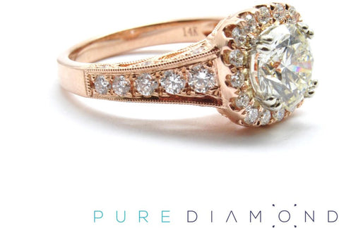 Awesome Rose Gold Halo