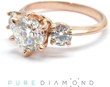 Classic Six Prong and Two Side Diamonds