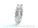 Princess Cut Eternity Band Perfectly Matched