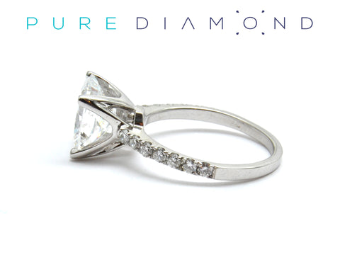 The Cushion Cut Diamond Ring