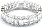 Perfectly Matched Emerald Cut Diamond Eternity Wedding Band