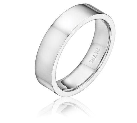 Elegant flat comfortable fit wedding band