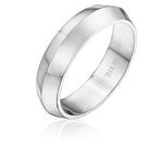 Elegant knife edge wedding band