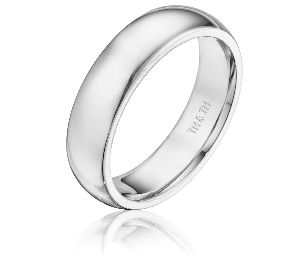 Classic half round comfortable fit wedding band