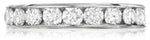 Classic channel set round diamond eternity band