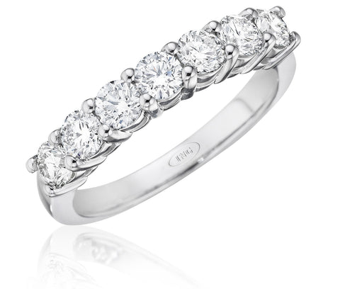 Classic seven stone wedding band
