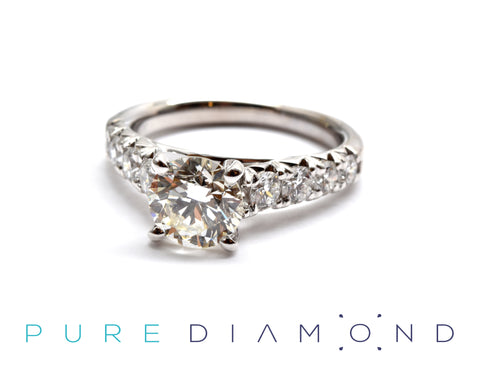 Thicker French Pave Ring