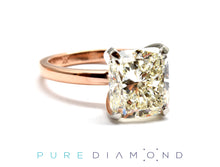 Cushion Rose and White Gold