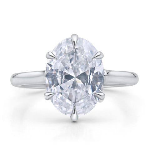 CUSTOM OVAL BRILLIANT DIAMOND ENGAGEMENT RING