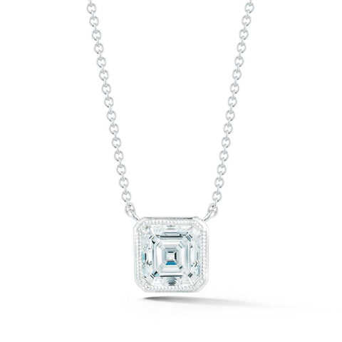 Civilised Asscher Diamond Pendant