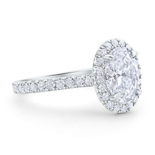 Halo Oval Brilliant Cut Pave Diamond Engagement Ring