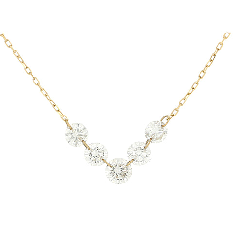Graduated Round Diamond Necklace