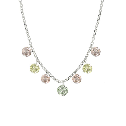 Fancy Colored Diamond Necklace