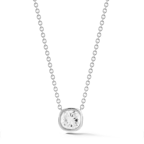 Civilised Cushion Diamond Pendant