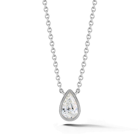 Civilised Pear Diamond Pendant