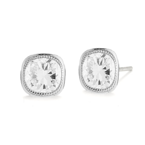 Idlyllic Cushion Diamond Studs