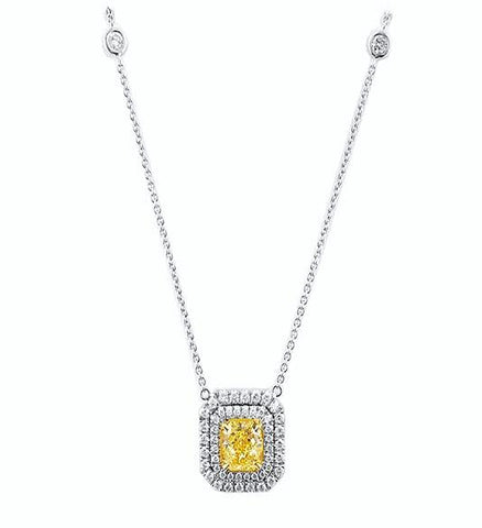 2 Ct Yellow Diamond Pendant